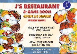 JS Restaurant Menu Web